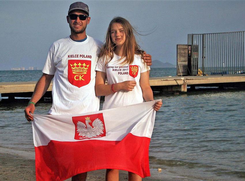 Zagle Kielce: Mistrzostwa Europy Klasy Laser 4.7 U16 - Los Alcazares, Hiszpania