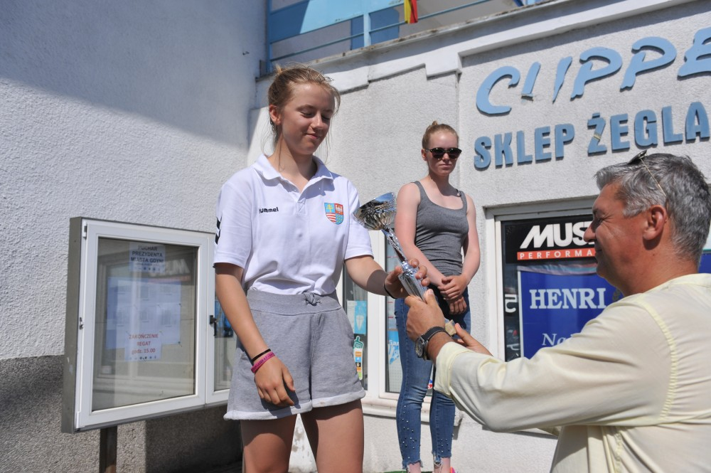 Zagle Kielce: Puchar Prezydenta Miasta Gdyni 2018 - Natalia Borusińska na podium
