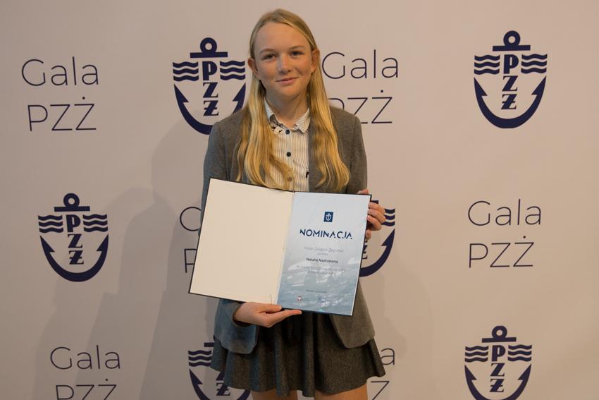 Zagle Kielce: Gala Polskiego Związku Żeglarskiego - powołanie do Kadry Narodowej dla Natalii Nadrzewia