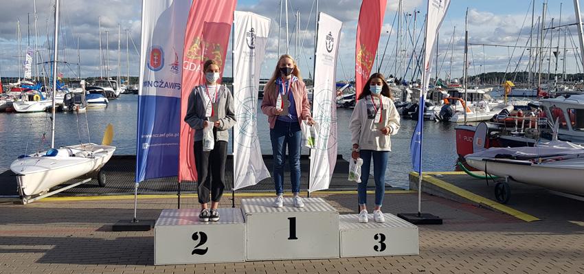 Zagle Kielce: Natalia Nadrzewia Mistrzynią Polski klasy Laser 4.7 w Sprintach, Górki Zachodnie 2020