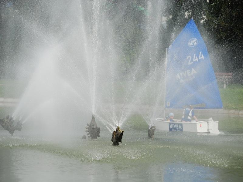Zagle Kielce: Święto Kielc na stawie w Parku